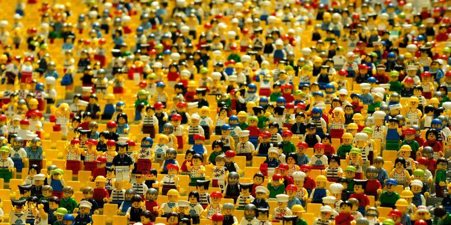 Lego figure audience